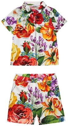 Dolce & Gabbana Cotton shirt and shorts set