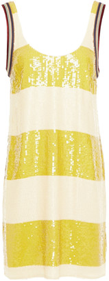 3.1 Phillip Lim Satin-trimmed Sequined Silk-georgette Mini Dress