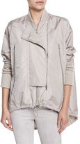 Kaufman Franco Nylon High-Low Anorak Jacket, Ginger Frost
