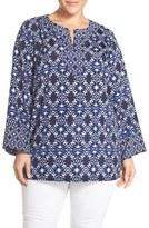 Vince Camuto Plus Size Women's Batik Print Tunic Blouse