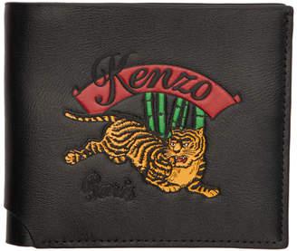 Kenzo Black Jumping Tiger Bifold Wallet