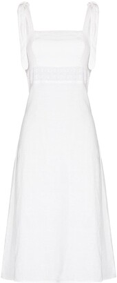 HONORINE Claudette linen midi dress