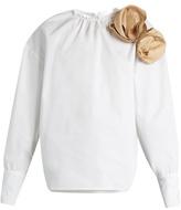 Awake Elegant cotton-poplin blouse