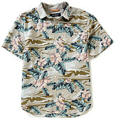 Tommy Bahama Canoa Camo Floral Short-Sleeve Woven Seersucker Shirt
