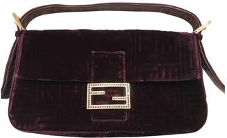 Fendi Baguette Purple Velvet Handbags