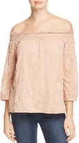 Daniel Rainn Off The Shoulder Eyelet Blouse