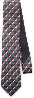 Prada Geometric-Print Silk Tie