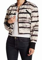 KENDALL + KYLIE Women's Print Stroke Quilted Bomber