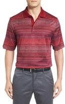 Bugatchi Men's Mercerized Cotton Stripe Polo