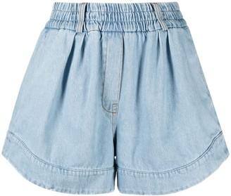Tela Denim Curved-Hem Shorts