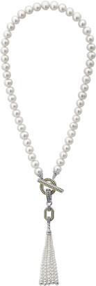 Lagos Luna Pearl Tassel Necklace