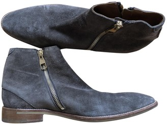 Louis Vuitton Navy Suede Boots