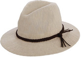 Scala Women's LC767 Knit Safari Hat with Braid Trim