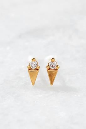Tai CZ Ice Cream Cone Stud Earrings Clear