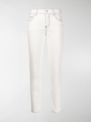 Alexander McQueen Low Rise Cropped Jeans