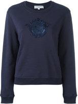 Carven embroidered motif sweatshirt - women - Cotton - M