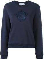 Carven embroidered motif sweatshirt - women - Cotton - XS