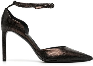 Del Carlo Snakeskin-Effect Pointed Pumps