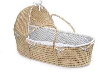 Badger Basket Hooded Chevron Moses Basket