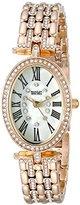 Badgley Mischka Women's BA/1356WMGB Swarovski Crystal Accented Gold-Tone Bracelet Watch