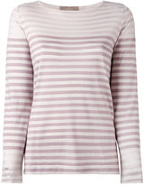 Cruciani striped knitted top - women - Cotton/Silk - 40