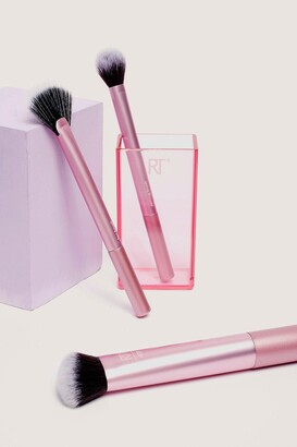 Nasty Gal Womens Real Techniques 3-Pc Cosmetic Brush Set - Pink - ONE SIZE, Pink
