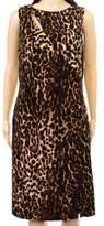 Lauren Ralph Lauren Lauren By Ralph Lauren Brown Women's 14W Plus Leopard Sheath Dress