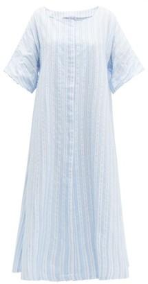 Thierry Colson Trinidad Striped Midi Dress - Blue