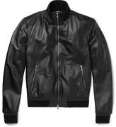 Dolce & Gabbana Slim-fit Leather Jacket - Black