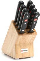 Wusthof Gourmet 9-Piece Steak Knife Block Set in Natural