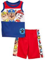 Children's Apparel Network Paw Patrol Red & Blue Tank & Shorts - Toddler