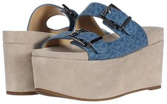 MICHAEL Michael Kors Delilah Slide (Dark Chambray) Women's Shoes