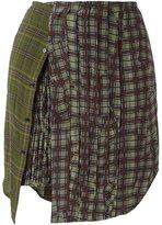 A.F.Vandevorst multi patterned mini skirt - women - Virgin Wool/Wool - 34