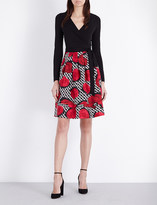 Diane von Furstenberg Jewel wool and silk-blend wrap dress