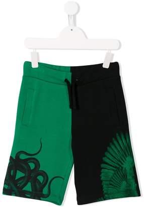 Marcelo Burlon County of Milan Kids printed colour-blocked shorts