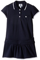 Armani Junior Navy Drop Waist Polo Dress (Toddler/Little Kids/Big Kids)