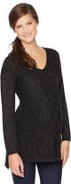 Motherhood V-neck Cable Knit Maternity Sweater