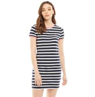 Jack Wills Womens Harlech Stripe Ringer Dress Navy