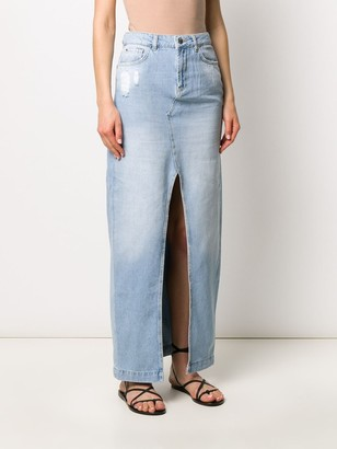 Twin-Set Denim Maxi Skirt