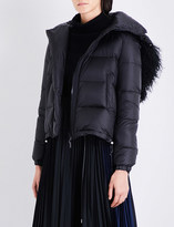 Sacai Faux-fur shell puffer jacket