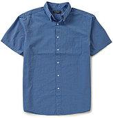 Roundtree & Yorke Short-Sleeve Seersucker Checked Shirt