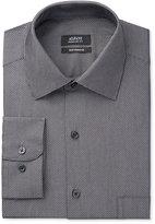Alfani Men's Big & Tall Classic Performance Fit Black White Diagonal Dot Dress Shirt, Only at Macy's