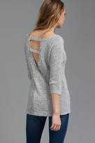 Dynamite Dolman Sleeve Sweater with Back Detail
