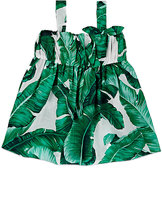 Dolce & Gabbana Banana-Leaf-Print Cover-Up Dress-GREEN
