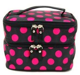 Donalworld Women Double Layer Dot Cometic Packing Organizer Makeup Bag