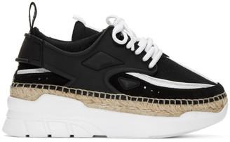 Kenzo Black and White K-Lastic Espadrille Sneakers