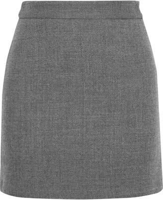 Milly Modern Wool-blend Twill Mini Skirt