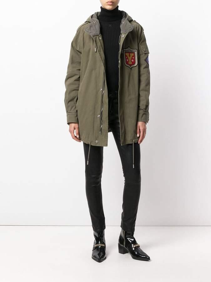 Saint Laurent hooded military parka coat