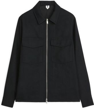 Arket Zip Wool Overshirt
