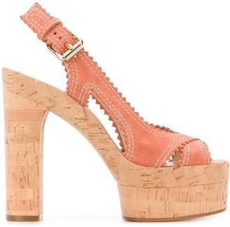 Casadei Open Toe 145mm Heeled Sandals